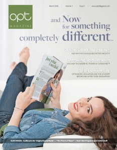 OPT Magazine cover for March 2016 issue