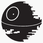 death star version 2 graphic icon