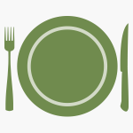 dinner plate setting graphic