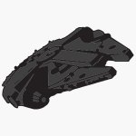 millenium falcon graphic icon