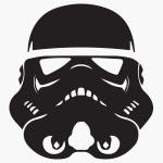 stormtrooper graphic icon