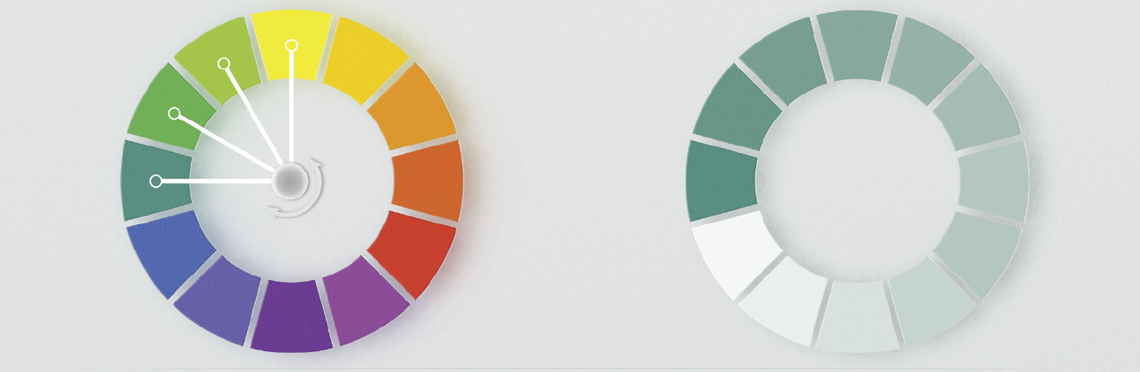 analogous and monochromatic color wheel examples