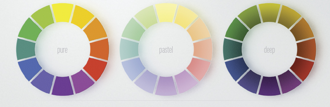 hue, tint and shade color wheel examples