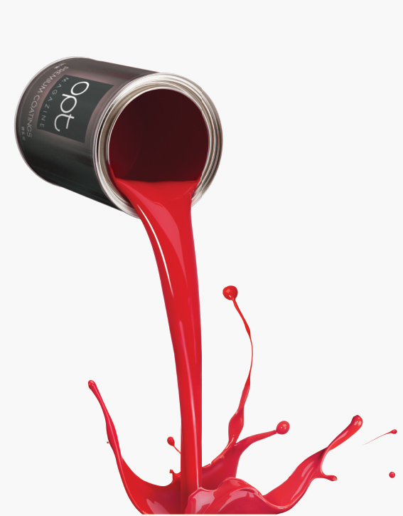 can of opt spilling red paint
