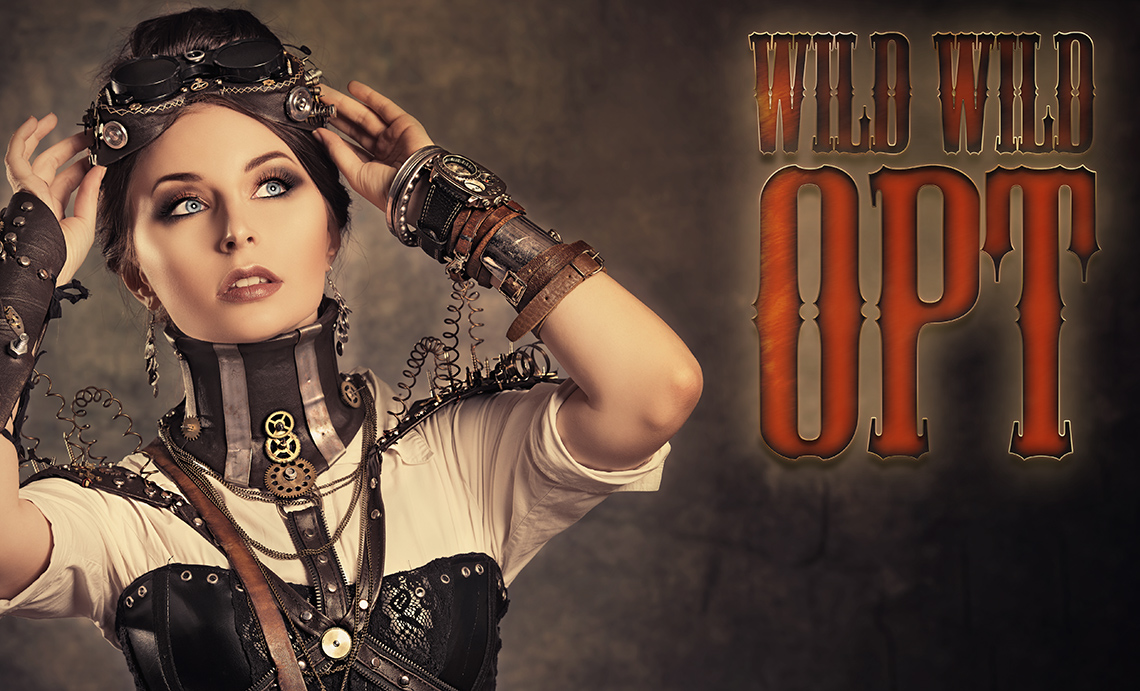 image of a woman dressed in steampunk apparel