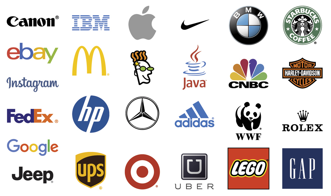 Image of a variety of logo designs