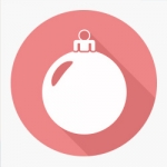 simple graphic of a holiday ornament